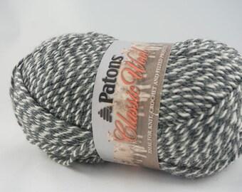 DeStash: Patons Classic Wool Dark Grey Marle