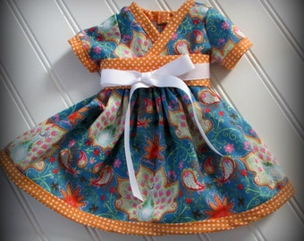 American girl Doll kimono dress kyoko dress waldorf doll dress girl doll dress