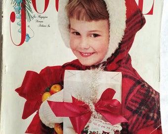 Vintage Ladies Home Journal Magazine December 1957