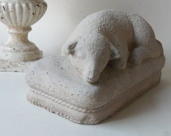 cement mourning lamb