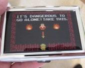 Zelda 8bit Its Dangerous To Go Alone Cigarette or Card Case or Wallet