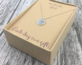 Bow Necklace - Sterling Silver Bow Necklace - Hand Stamped Bow Necklace - Tie It Up - Bow Jewelry - Cute Necklace - Gift for Her