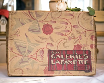 Art Deco Galeries Lafayette, Paris Large Gift Box, French Vintage Box