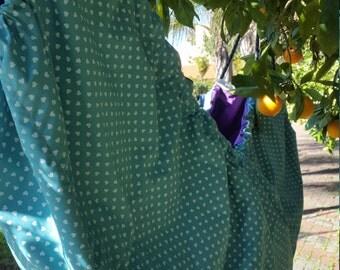 SALE SALE!  Baby Hammock.  Zaza Baby hammock, Kids Hammock and swing - Light Blue with little polkadot hearts and Purple.