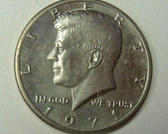 Vintage 1971 Kennedy Silver Half Dollar - Near Mint Condition - Collectable Half Dollar - Silver Coins - Collectable Coins - Free Shipping