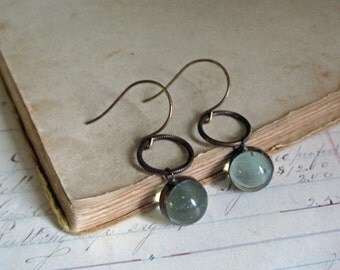 Glass Marble Earrings Recycled Jewelry Stained Glass