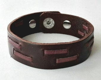 Brown Leather Cuff Bracelet Leather Bracelet