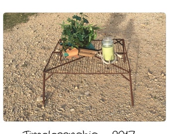 Coffee Table - Rustic Coffee Table - Farmhouse Table - Metal Coffee Table - Small Coffee Table - Patio Table - Vintage Table - Plant Stand