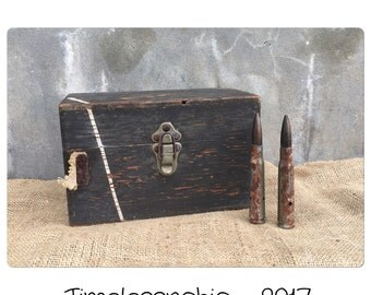 Vintage Box - Dovetail Box - WWII Box - Antique Box - Military Box - Wooden Box - Wood Box - Salvaged Box - Decorative Box - Keepsake Box