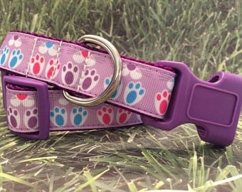 """Bunny Dog Collar, In M, L, XL, 1"""" Wide, For Easter"""