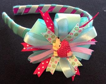 Hard headband, fashion hair accessory, designer headband, one of a kind hair piece, girl hair accessory