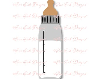 Baby Bottle SVG File PDF / dxf / jpg / png / eps / SVG File for Cameo, Cricut & other electronic cutters