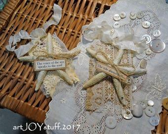 Glittery Starfish Tags - set of 2 - NO35