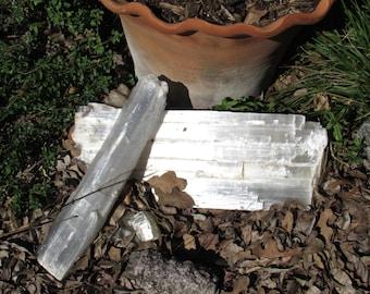 Large  20 Lb Selenite Lightworker Charging log  Reiki Healing Room Crystal