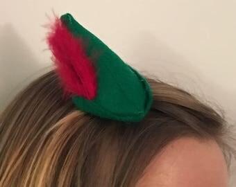 Peter Pan-inspired mini hat - pixie hat