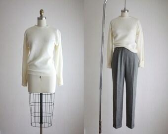 angora knit sweater