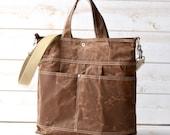 Waxed Canvas bag, Briefcase, Messenger bag, Tote, xmas gift, Women messenger, Travel bag, As sen Tatler  January 2017