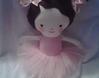 18 Inch Pigtails Ballerina -  Rag Doll - Removable Shoes and Tutu - dress up - Dance - Ballet