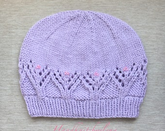 """Instant Download #237 Knitting Pattern Hat """"Dania"""""""