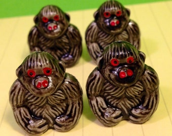 Vintage Miniatures - Miniature Gorillas - Gorillas - Gorilla Figures - Tiny Gorillas - Cute Animals