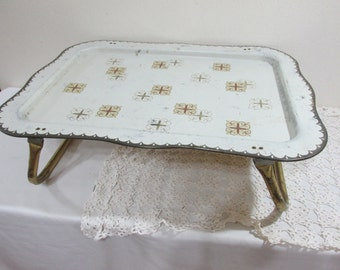 Metal Bed Tray Vintage Lap DeskTable