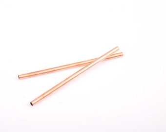 Copper Drinking Straws - Set of 2