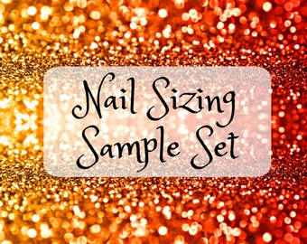 Sample Fake Nail Sizing Set- Choose Coffin, Stiletto, Square, Almond, Oval False Nail Sample Set For Nail Fitting and Sizing, XL Nails