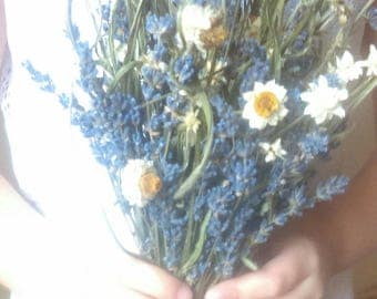 Sweet Spring Meadow dried lavender flower bouquet