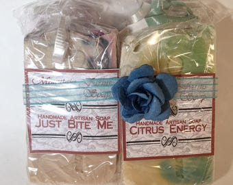 Guest Bar Four Pack-Guest Bars-Handmade-Natural-Artisan-Soap-Cold Process-Gift-Travel-Abbotsford-BC-Canada
