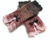 CUSTOM ORDER Crochet mittens, Boho mittens, Wedding mitts, Fingerless mittens, Lolita mitts, Victorian mittens, Steampunk mittens