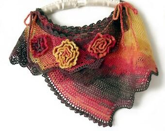 Cape poncho, Crochet Cape, Poncho Shawl, Boho cape, Freeform crochet, Off-Shoulder cape, Crochet shawl, Dragon tail cape, Hippie gypsy cape