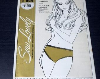 Sew Lovely Ladies Hip Hugger Lingerie Pattern by Laverne Devereaux, Sizes 4 - 9, Sew Lovely P506, Ladies Panties Underwear Pattern