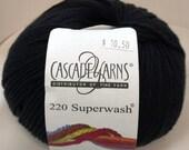 Cascade, Superwash, Wool, Worsted, Black, 815