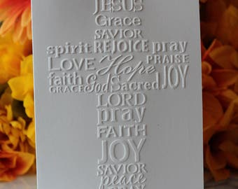 Cross Note Cards w/ Envelopes - Pastor Appreciaton - Thinking of You - Sympathy - Get Well - 14 Colors Available - FREE SHIPPING