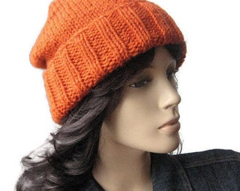 The Alex Hat, Hand Knit Hat - Made to Order - Watchman Cap Slouchy Hat, Vegan Knits, Winter Fashion, Mens Hat, Womens Hat