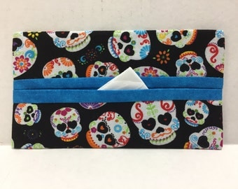 Sugar Skulls Tissue Cozy/Gift Card Holder/Party Favor/Wedding Favor
