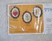 "Craft Supplies Cross Stitch Jewelry Kit ""Rosebud Brooch"" The Creative Circle"
