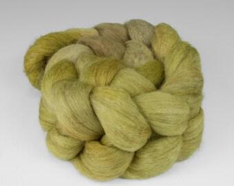 Yak Silk Merino Top, Handpainted, 2 oz., Wolf Lichen