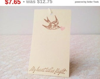 SALE Wedding Wish Tree Tags Bird and Heart Set of 20