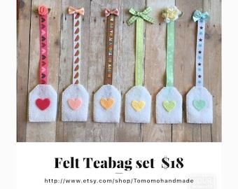 Etsy Pretend food Felt food Play food Teabag set (5pc)