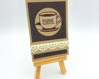 Gift Card Holder, Teacher Appreciation, Coffee Gift Card, Thank You, Coffee, Teacher Gift, Coach Gift, Coffee Card, Thank You Card, Espresso