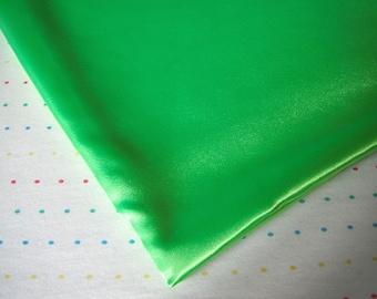 Neon Green Satin Lining Fabric, Sample Size Fabric (Fat Quarter - 18 x 30)