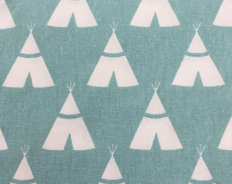 X-Large Sweet Bobbins Hanging Wet Bag - Aqua Teepees - 18x22 - SEAM SEALED - Boutique Quality