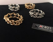 Chain gang ladder chain ring by Ankh By Racquel
