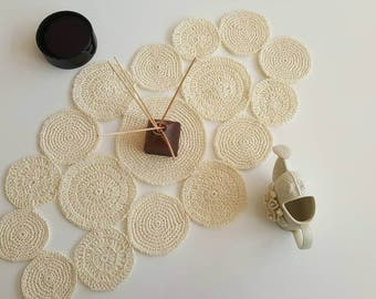 Ivory Rustic Table Runner