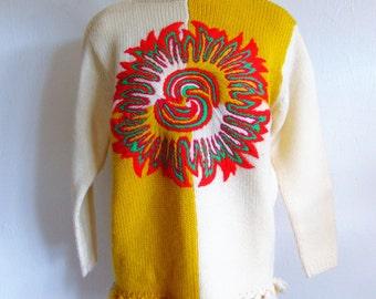 60s MOD Phil Rose Sun God wool sweater size medium