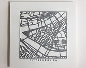 pittsburgh or south philly pressed prints