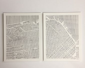 san francisco DIPTYCH ART PRINT