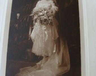 Vintage Photo ~ Flapper Girl Bride
