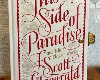 Book Clutch F. Scott Fitzgerald This Side of Paradise and Other Classic Works Literary Book Purse Ready to Ship